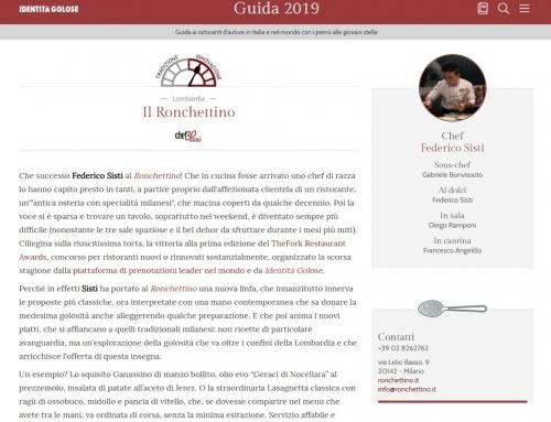 Identità Golose: Guida 2019